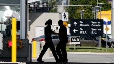 Canada US border, peace arch crossing