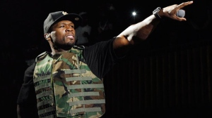 This March 19, 2012 file image released by Fuse shows rapper 50 Cent, also known as Curtis Jackson, performing during the Fuse Live: Shady 2.0 SXSW concert at the Austin Music Hall in Austin, Texas. (AP Photo/Fuse, Brandon Wade)