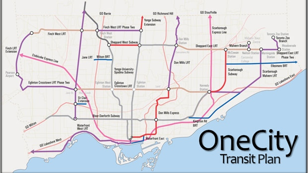 How To Outline Story Like Subway Map.30b Ttc Plan Property Tax Hikes New Subway Lines Cp24 Com