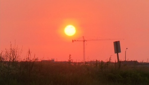 The sun rises over Toronto as smog advisories were issued for much of southern Ontario on Friday, June 29, 2012