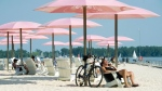 People take in the sun at Sugar Beach in Toronto on Wednesday, July 4, 2012. (The Canadian Press/Nathan Denette)