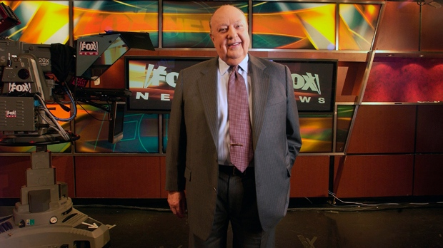 Fox News CEO Roger Ailes poses in the Fox News studio in New York in this Sept. 29, 2006, file photo. (AP Photo/Jim Cooper)