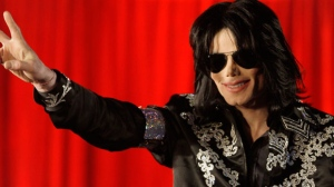 In this March 5, 2009 file photo, U.S. singer Michael Jackson speaks at a press conference at the London O2 Arena. (AP / Joel Ryan)