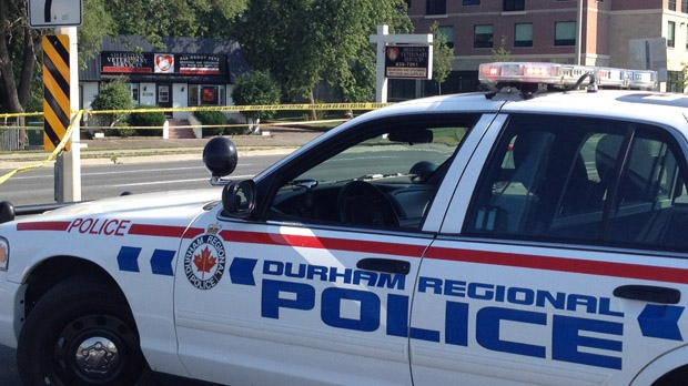 A male was shot by police during a robbery investigation in Pickering on Monday, July 16, 2012. (CP24/Jackie Crandles)