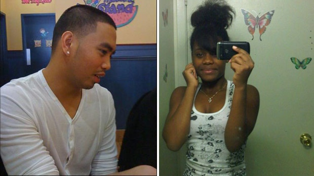 Joshua Yasay, 23, and Shyanne Charles, 14, are seen in these undated photos. The two were killed in a gunfight at a summer barbeque that took place the night of July 16, 2012.