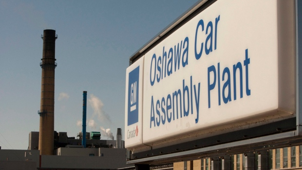 The General Motors car plant in Oshawa is pictured. (The Canadian Press/Frank Gunn)