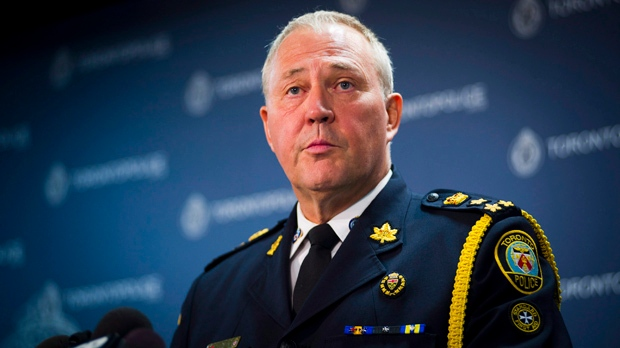 Toronto police Chief Bill Blair addresses a news conference Tuesday, July 17, 2012. (The Canadian Press/Ian Willms)
