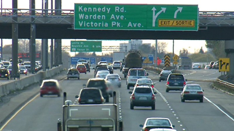 Highway 401 is shown in this file photo.