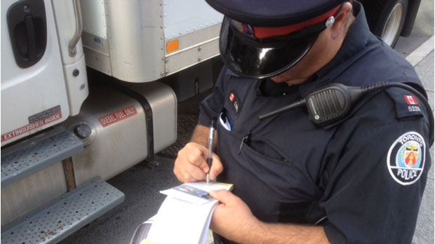 Traffic ticket file photo