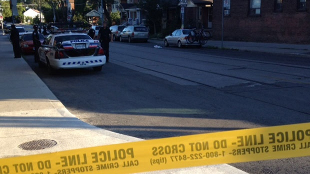 Toronto police are investigating after a man, believed to be in his 40s, died after falling from his bicycle on Wychwood Avenue on Monday, Aug. 6, 2012.