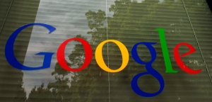 A Google logo is displayed at the headquarters in Mountain View, Calif., Thursday, April 12, 2012. (AP / Paul Sakuma)