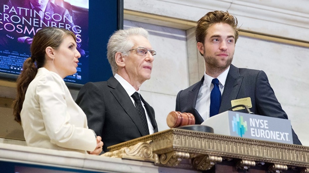 Robert Pattinson and David Cronenberg open NYSE