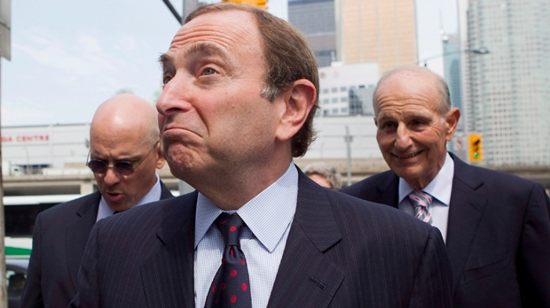 NHL commissioner Gary Bettman arrives for collective bargaining talks in Toronto on Wednesday, Aug. 15, 2012. (The Canadian Press/Chris Young)