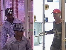 The two men at left are alleged to have robbed banks in Markham, while the man at right is believed to have robbed banks in Vaughan on Friday, Aug. 20, 2010. (Photos courtesy York Regional Police)
