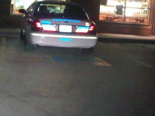 CP24 viewer Melissa Goncalves submitted this photo of a parking enforcement cruiser parked in a handicapped spot at Caledonia and Orfus Roads.