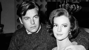 "In a Nov. 25, 1959 file photo, Natalie Wood and her husband Robert Wagner are made up for their roles in ""All The Fine Young Cannibals,"" in Los Angeles. (AP Photo/DFS, File)"
