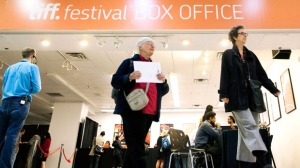 People leave the box office prior to the beginning of the Toronto International Film Festival in Toronto Wednesday, September 7, 2011. TIFF officially runs from Thursday, September 8 through to Sunday, September 18. THE CANADIAN PRESS/Darren Calabrese