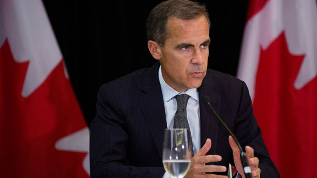 Bank of Canada Governor Mark Carney takes questions from the media at a press conference after speaking at the Canadian Automotive Workers' national convention in Toronto on Wednesday, August 22, 2012. (The Canadian Press/Michelle Siu)