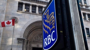 The Royal Bank of Canada sign is shown in Toronto's financial district. (Nathan Denette / THE CANADIAN PRESS)