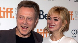 "Christopher Walken and Imogen Poots pose on the red carpet at the gala for the new movie ""A Late Quartet"" during the 2012 Toronto International Film Festival in Toronto on Monday, Sept. 10, 2012. (The Canadian Press/Frank Gunn)"