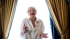 "Actress Elaine Stritch poses for a photograph for the documentary ""Show Stopper: The Theatrical Life of Garth Drabinsky"" during the 2012 Toronto International Film Festival in Toronto on Tuesday Sept. 11, 2012. (The Canadian Press/Michelle Siu)"
