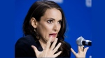 "Actress Winona Ryder speaks during the press conference for the film ""The Iceman"" during the 2012 Toronto International Film Festival in Toronto on Monday, Sept. 10, 2012. (The Canadian Press/Aaron Vincent Elkaim)"