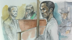 Nahom Tsegazab as depicted in a court sketch.