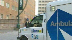 A Toronto ambulance is seen in this photo.