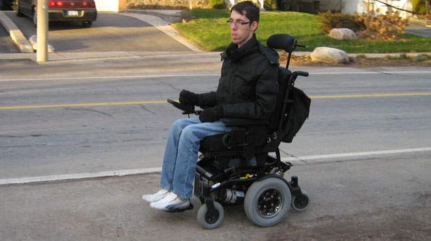 A photo of Raymond Dell'Aera in his motorized wheelchair. (submitted)