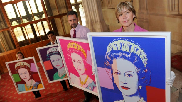 Andy Warhol portraits of Queen Elizabeth II