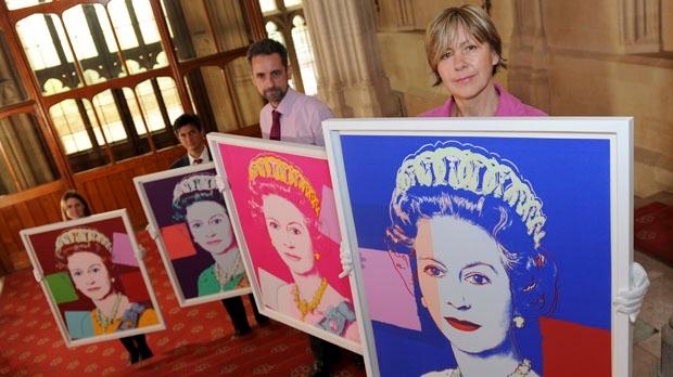 Andy Warhol portraits of Queen Elizabeth II