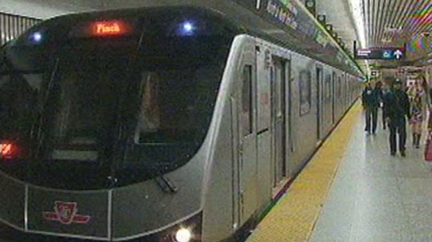 A TTC subway train is pictured in this file photo.