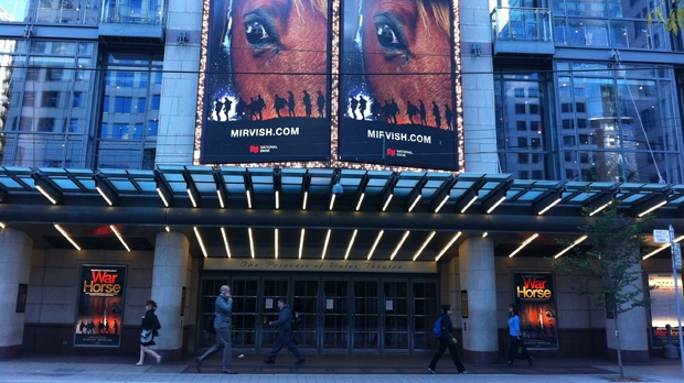 The Princess of Wales Theatre is pictured on King Street on Monday, Oct. 1, 2012. (CP24/Mathew Reid)