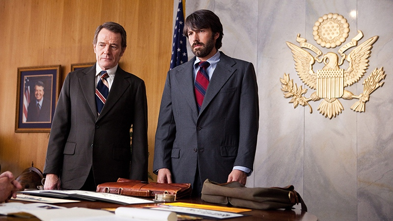 Bryan Cranston as Jack O'Donnell and Ben Affleck as Tony Mendez in a scene from Warner Bros. Canada's 'Argo.'